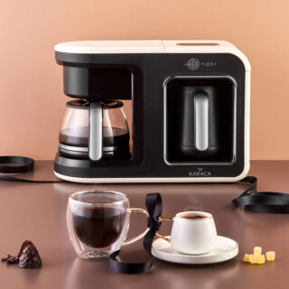 Karaca Hatır Plus 2 in 1 Kahve Makinesi Krem