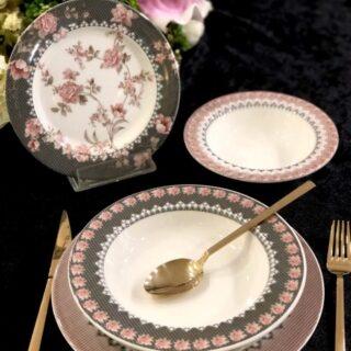 ROY KING Bloom Rose Porselen 24 Parça Yemek Takımı