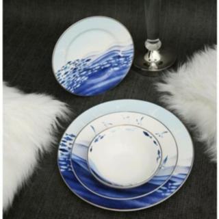 Vitale 24 Parça Balık Model Porselen Yemek Takımı Bone China